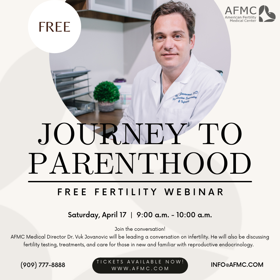 FREE WEBINAR ALERT! 🚨 📱💻🖥!!  𝗔𝗙𝗠𝗖 is hosting its first webinar! 🥳 Dr. Jovanovic will be leading the discussion on infertility, as well as fertility testing, treatments, and care.  The webinar will be tailored to those completely new to the world of reproductive endocrinology and to those who may have already began their fertility journeys.  𝗧𝗜𝗖𝗞𝗘𝗧𝗦 𝗔𝗥𝗘 𝗡𝗢𝗪 𝗟𝗜𝗩𝗘! 👇  https://www.eventbrite.com/e/journey-to-parenthood-free-fertility-webinar-tickets-146479374753?aff=ebdssbeac  #freewebinar #fertility #fertilityjourney #fertilitysupport #infertility #ivfjourney #iui #surrogacy #ttc #ttctribe #maleinfertility #knowledgeispower #reproductivehealth #ivf #americanfertilitymedicalcenter
